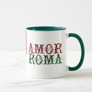 Taza Amor Roma con el cordón verde