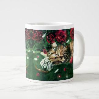 Taza anti del jumbo del gato de la tarjeta del día