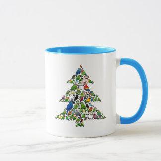 Taza Árbol de navidad del loro