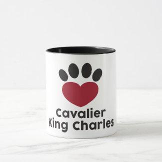 Taza arrogante de rey Charles del amor