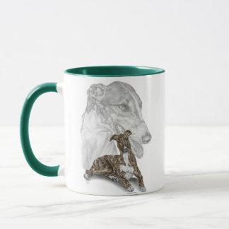 Taza Arte Brindle del perro del galgo