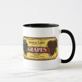 Taza Arte de la etiqueta del cajón de la fruta del