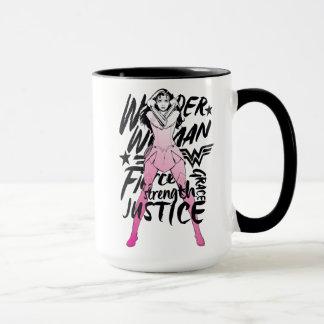 Taza Arte de la tipografía del cepillo de la Mujer