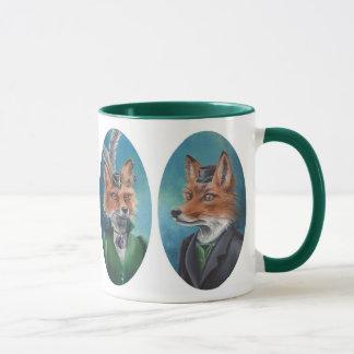 Taza Arte del Fox de los zorros del Victorian de Sr. y