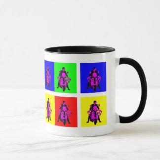 Taza Arte pop del jinete de la MOD