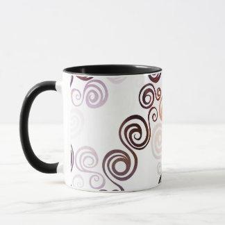 Taza Arte que remolina púrpura maravilloso