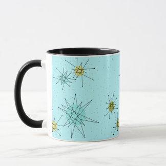 Taza atómica azul de Starbursts del huevo del