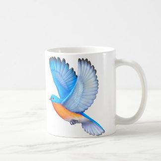 Taza aviar del arte del Bluebird del este que