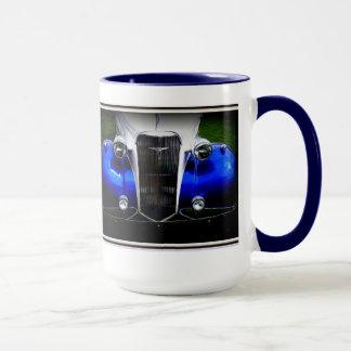 Taza azul de Chevy