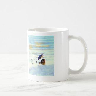 taza azul de la garza