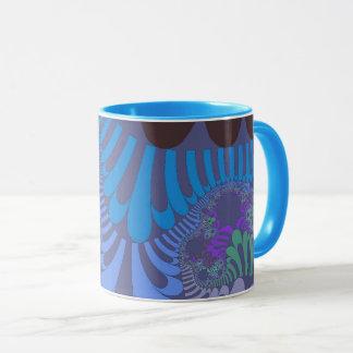 Taza azul de la MOD del Cornflower
