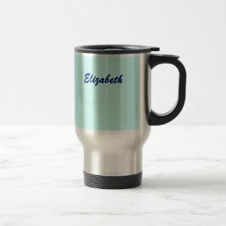 Taza azul del acero inoxidable para Elizabeth