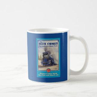 Taza azul del poster del cometa
