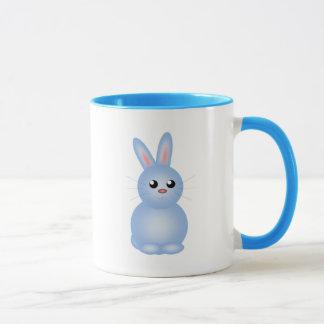 Taza Azul feliz Bunnise de Pascua