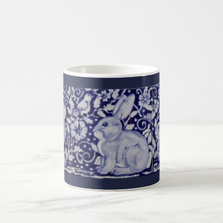 Taza azul y blanca de Dedham del cobalto de China