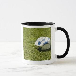 Taza Balón de fútbol plano en la hierba, Alemania