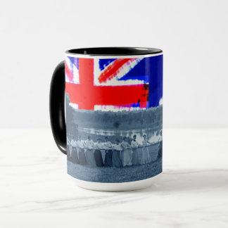 Taza bandera de Australia de la Tirón-O-Guerra del