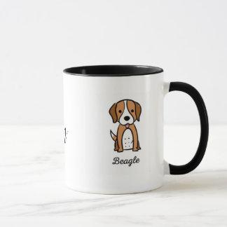 Taza Beagle de la mamá del perro