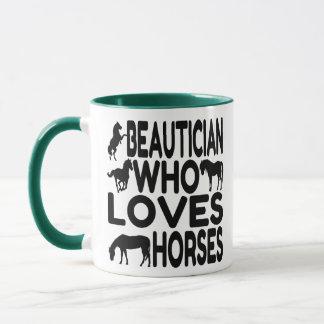 Taza Beautician del amante del caballo