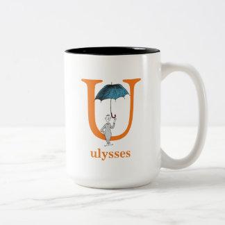Taza Bicolor ABC del Dr. Seuss: Letra U - El naranja el   añade