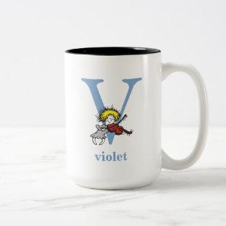 Taza Bicolor ABC del Dr. Seuss: Letra V - El azul el   añade su