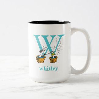 Taza Bicolor ABC del Dr. Seuss: Letra W - El azul el | añade su