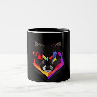 Taza Bicolor Abstract wolf mug