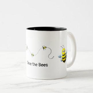 Taza Bicolor Ahorre las abejas