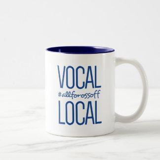 Taza Bicolor #AllForOssoff vocal y local - AZUL