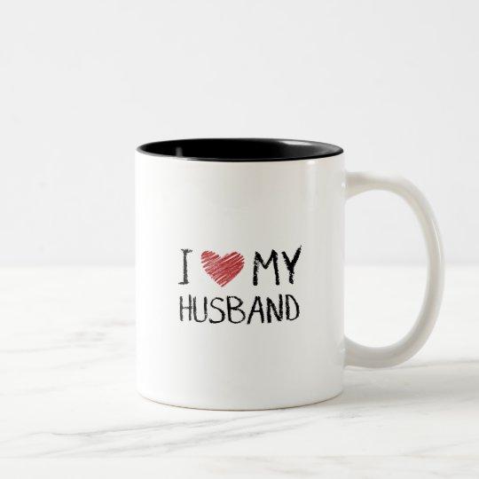 Taza Bicolor Amo a mi marido