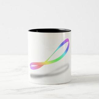 Taza Bicolor Arco iris infinito