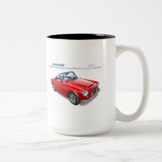 Taza Bicolor Automóvil descubierto fairlady de Datsun 2000