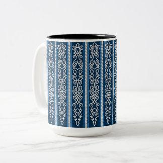 Taza Bicolor Azul del modelo de Viking