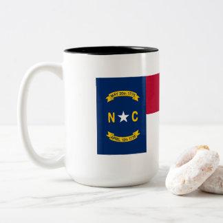 Taza Bicolor Bandera de Carolina del Norte