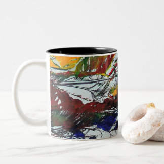 "TAZA BICOLOR BECHER ""TROPICAL"""