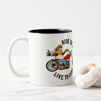 Taza Bicolor Biker motociclista