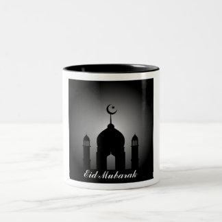 Taza Bicolor Bóveda de la mezquita y silueta del alminar