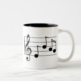 Taza Bicolor Clef agudo y personal de la notación musical