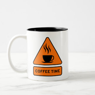 Taza Bicolor Coffee Time Hazard Sign