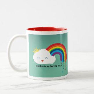 Taza Bicolor Color del arco iris