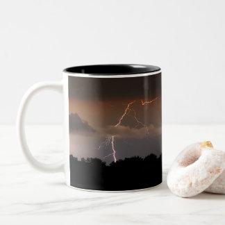 Taza Bicolor Consiga el Lit para arriba con su café de la