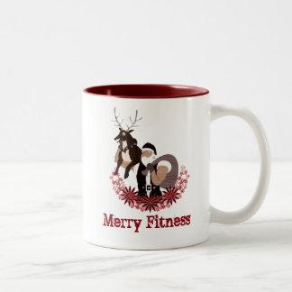 Taza Bicolor Cubierta divertida de los Felices Navidad de la