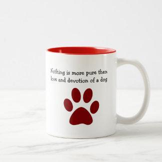 Taza Bicolor Dedicación y amor del perro