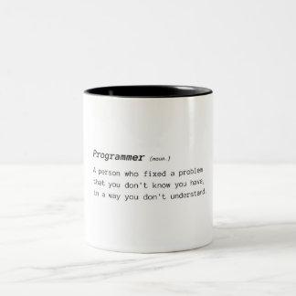 Taza Bicolor Definición del programador