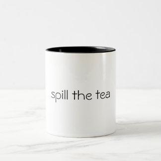 Taza Bicolor derrame el té