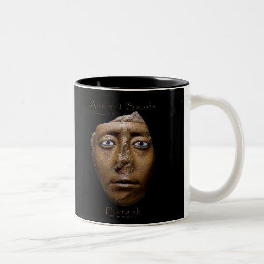 Taza Bicolor Diseño egipcio de la cara del Pharaoh