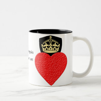 Taza Bicolor El café o el té resistente 11oz dos del corazón