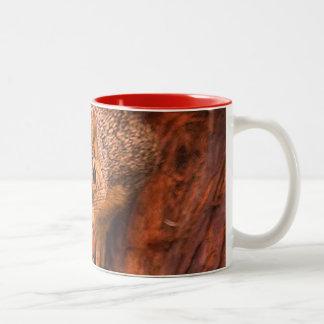 Taza Bicolor El café y las nueces, van perfectos juntos