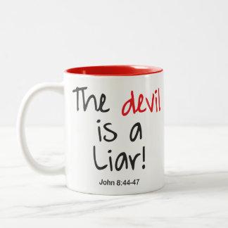 Taza Bicolor ¡El diablo es un mentiroso!