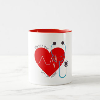 Taza Bicolor El mejor doctor Nurse del mundo personalizado